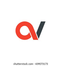 initial letter av linked round lowercase logo red