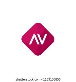 Initial Letter AV Logo Template Design
