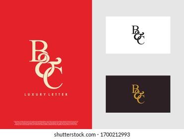 Ursprüngliche Buchstaben B & C BC luxuriöse Vektorgrafik Logo Vorlage.