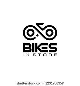 initial letter B, I, and S with bike chain logo design template