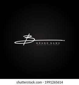 Initial Letter B Logo - Handwritten Signature Logo for Alphabet B
