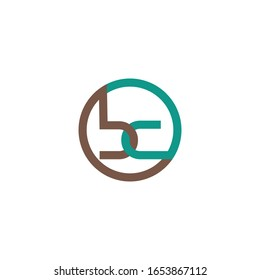Initial letter bc or cb logo vector design template
