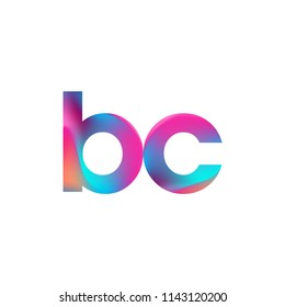 Initial Letter BC Logo Lowercase colorful design, Modern and Simple Logo Design.