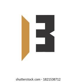 initial letter bf or fb logo vector design