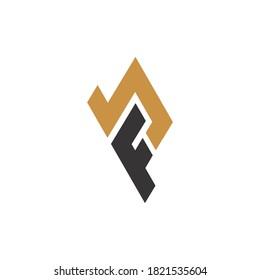 Initial letter bf logo or fb logo vector design template