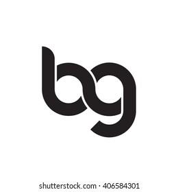 initial letter bg linked circle lowercase monogram logo black