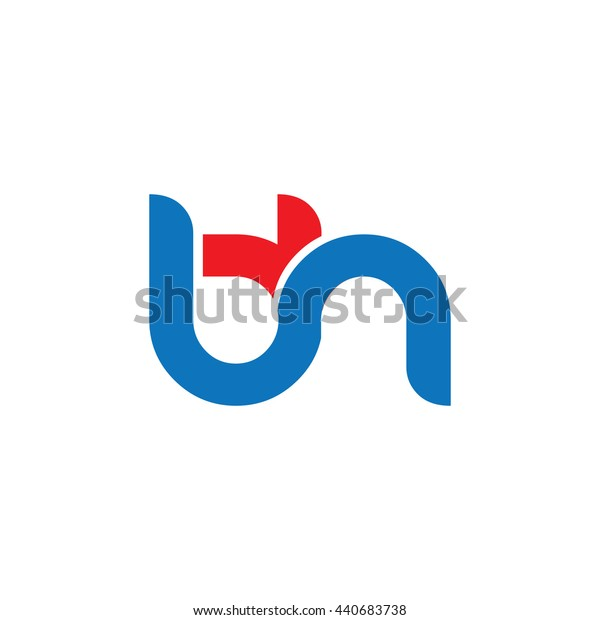 Initial Letter BH Circle Lowercase Logo