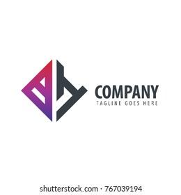 Initial Letter BH Design Logo