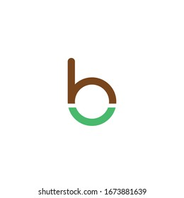 initial letter bh or hb logo vector design