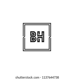 Initial Letter BH Logo Template Design
