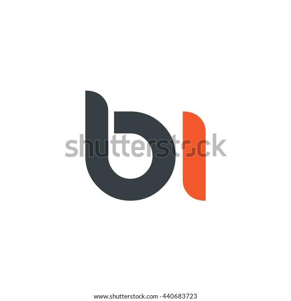 Initial Letter BI Circle Lowercase Logo