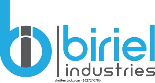 initial letter bi linked circle lowercase monogram logo