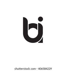 initial letter bi linked circle lowercase monogram logo black