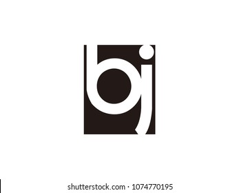 Initial letter bj lowercase logo black and white
