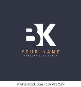 Initial Letter BK Logo - Minimal Vector Logo