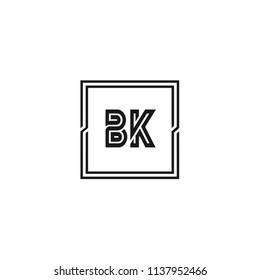 Initial Letter BK Logo Template Design