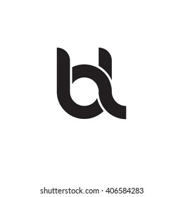 initial letter bl linked circle lowercase monogram logo black