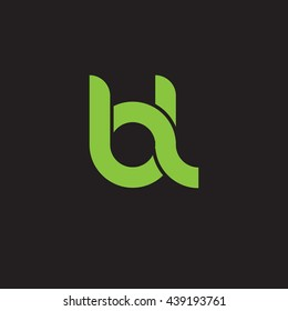 initial letter bl linked round lowercase logo green