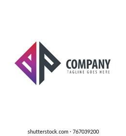 Initial Letter BP Design Logo