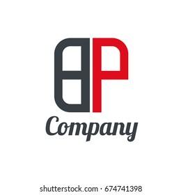 Initial Letter BP Linked Box Design Logo