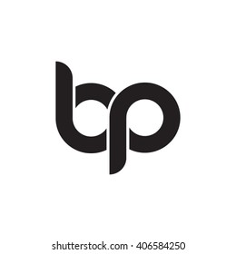 initial letter bp linked circle lowercase monogram logo black