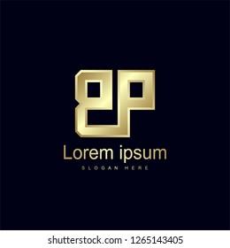 Initial Letter BP Logo Template Vector Design