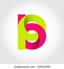 Initial Letter BP Rounded Lowercase Logo. Logo template.