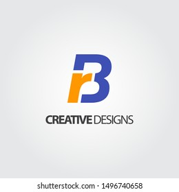 Initial Letter BR logo icon template