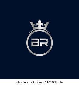 Initial Letter BR Logo Template Design