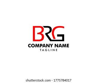 Initial Letter BRG Logo Template Design