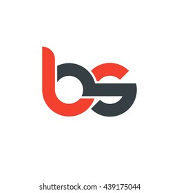 initial letter bs linked round lowercase logo red