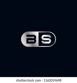 Initial Letter BS Logo Template Design