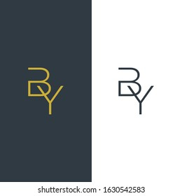initial letter BY Letter Simple Premium Logo Design template.