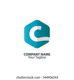 Initial Letter C Hexagon Logo