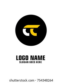 Initial letter C & C logo template vector