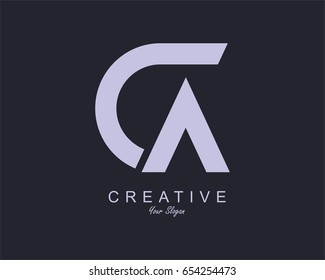 Initial Letter CA Logo Design vector
