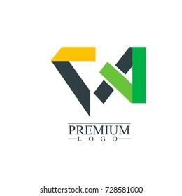 Initial Letter CA Logo Icon Design Template Elements. Material design logo