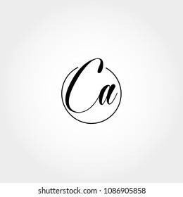 Initial Letter CA Logo Template