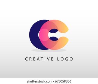 Initial Letter CC logo design template element