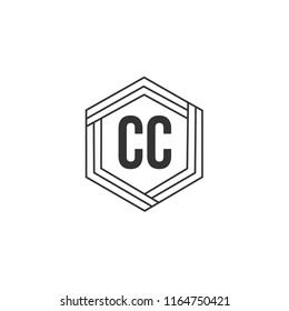 Initial Letter CC Logo Template Design