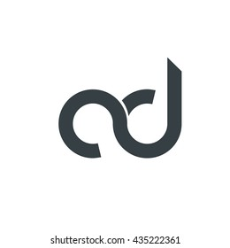 Initial Letter CD AD Linked Circle Lowercase Logo Icon Design Template Element