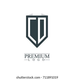 Initial Letter CD Company Design Logo Template