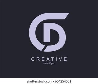 Initial Letter CD Logo Design vector