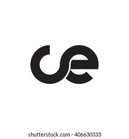 initial letter ce linked circle lowercase monogram logo black