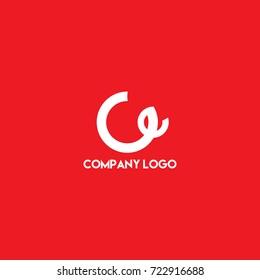 Initial letter ce, w modern logo design idea, simple minimalist letter icon logo vector.