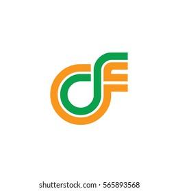 Initial Letter CF Linked Design Logo