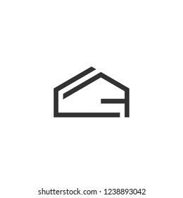 Initial Letter CF Logo Houes , home , buillding Template Design
