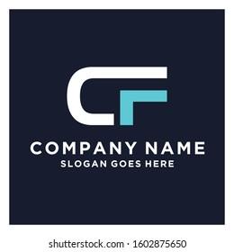 Initial Letter CF Logo Template Design