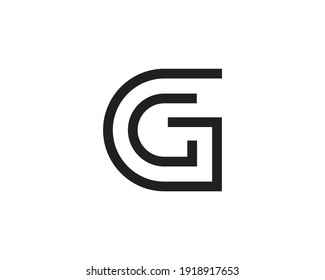 Initial letter CG logo template suitable for businesses and product names. This stylish logo design could be used for different purposes for a company, product, service or for all your ideas.