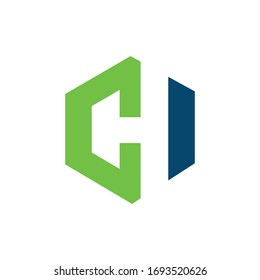 Initial letter ch logo or hc logo vector design template